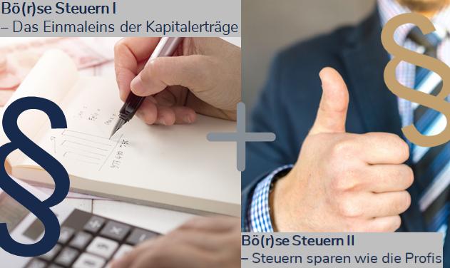 Webinar-Paket Börse Steuern - Steuern sparen mit diesen Webinaren!