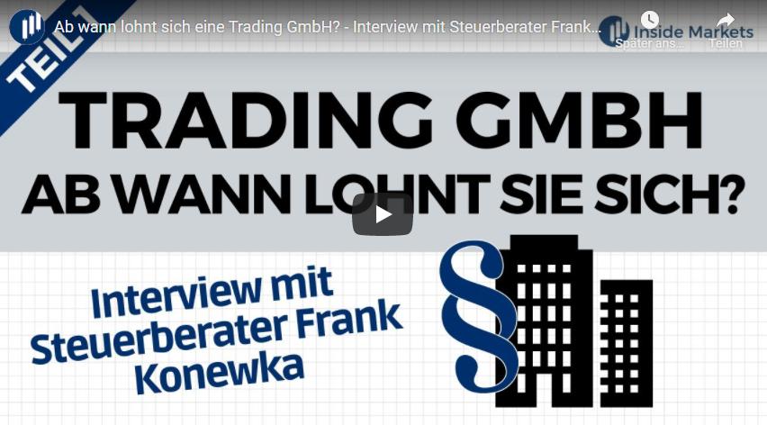 Ab wann lohnt sich eine Trading GmbH?